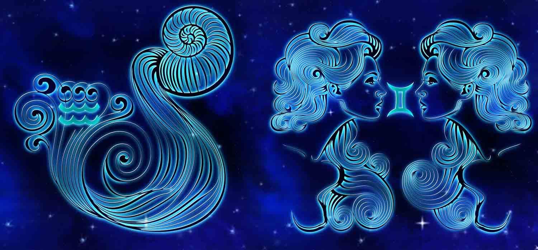 Combinação de signos – Aquário e Gêmeos . Foto: Pixabay
